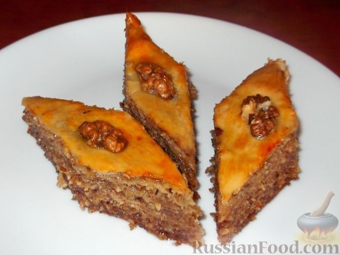 Бакинская пахлава рецепт с фото пошагово