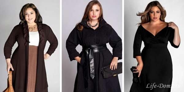 Мода для полных 2014: пальто, платья, костюмы