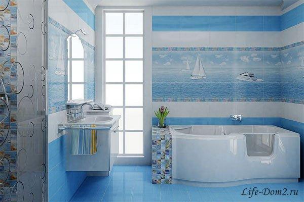 Интерьер ванной комнаты в трех стилях