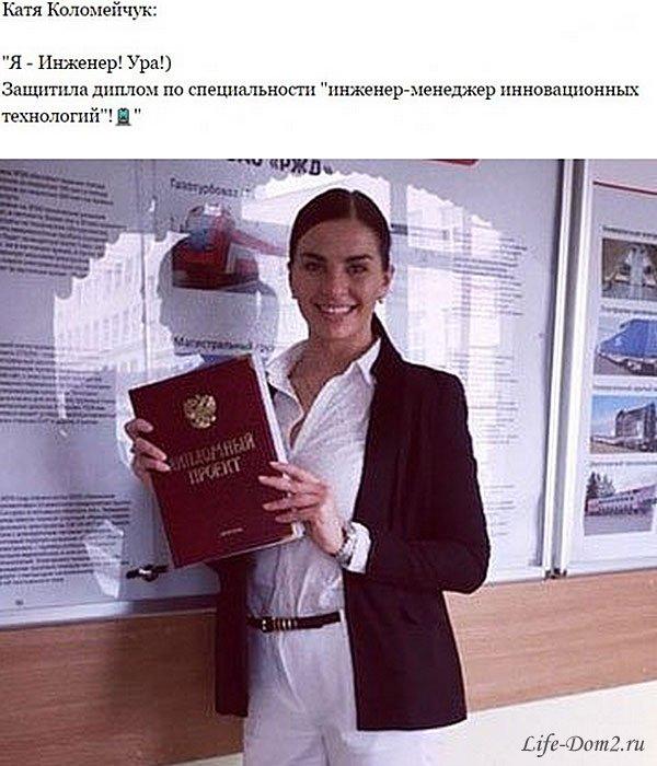 Катя Коломейчук защитила диплом