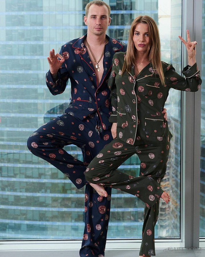 Фотосессия в пижамах экс-участников «Дом 2» Александры Гозиас и Константина Иванова