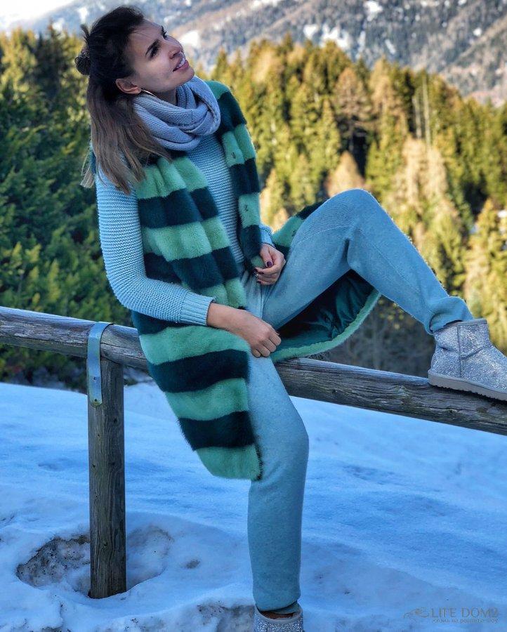 Фотоподборка Эллы Сухановой с горнолыжного отдыха в Италии