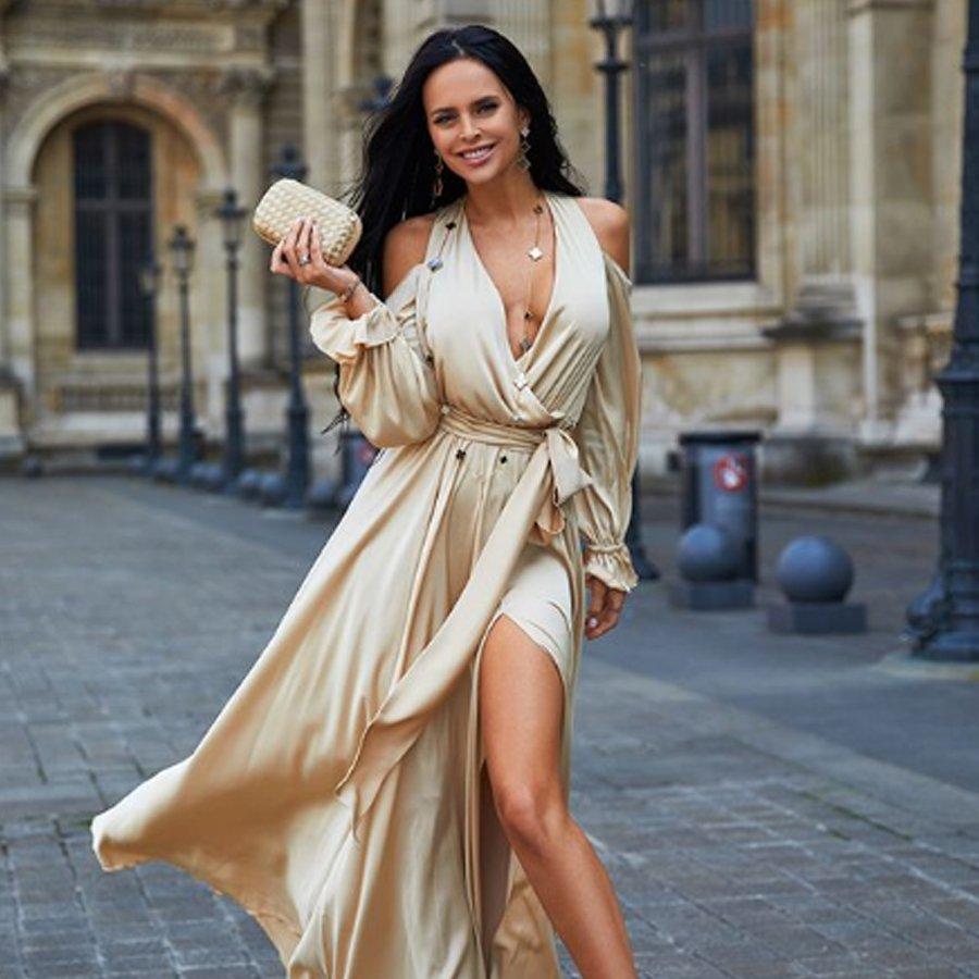 В реальности ноги Виктории Романец не выглядят такими стройными