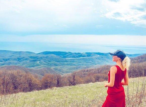 Александра Харитонова преодолела огромное расстояние во время похода в горах