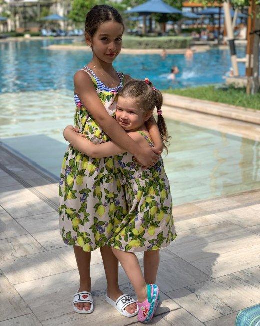 Ксения Бородина с семьёй на отдыхе в Арабских Эмиратах
