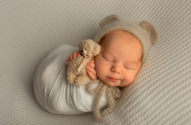 Фотосессия новорожденного сына Кати Колисниченко