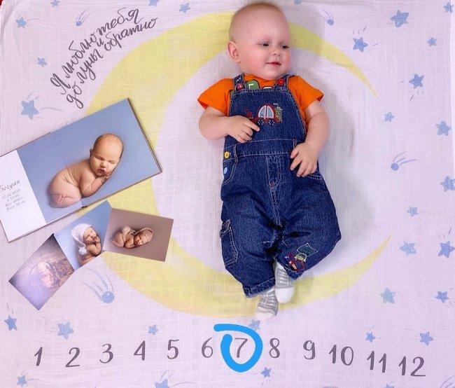 Фотоподборка с дня, когда сыну Алены Савкиной исполнилось 7 месяцев