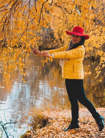 Фотосессия Татьяны Африкантовой на прогулке по осеннему парку