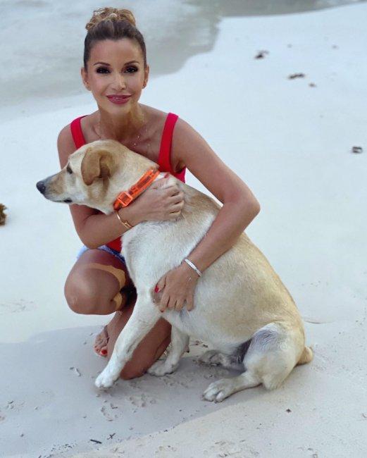 Фотоподборка ведущей Ольги Орловой с псом Сейшиком