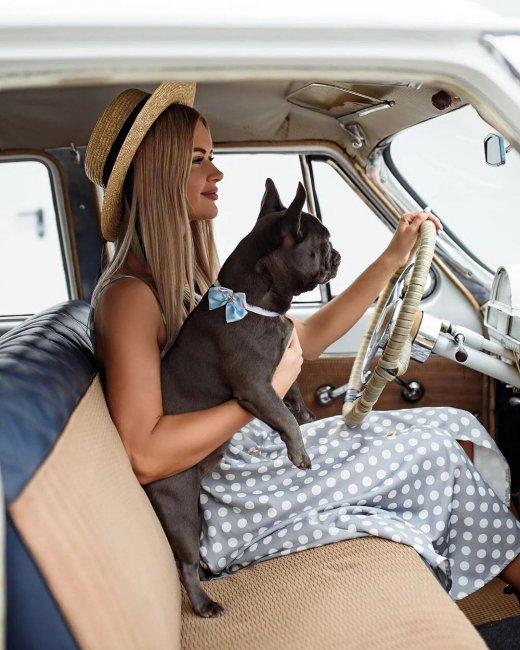 Красивая фотоссесия Марины Африкантовой со своим любимым питомцем