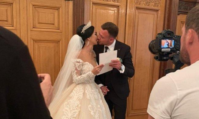 Первые кадры со свадьбы Анны Левченко и Валеры Блюменкранца