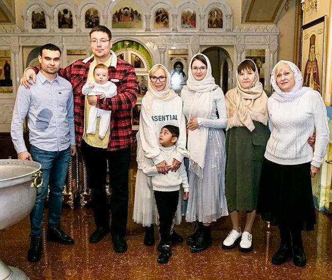 Фотоподборка с крещения сына Андрея Чуева