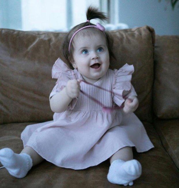 Младшей дочери Ольга Рапунцель исполнилось 9 месяцев