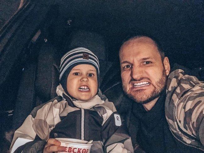 Фотоподборка Алексея Самсонова с сыном Мироном