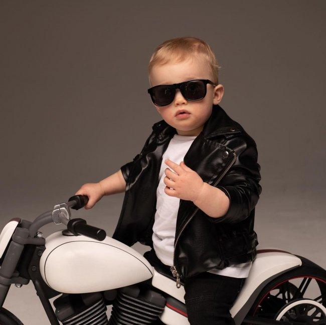 Фотоссесия маленького байкера Святослава Черкасова