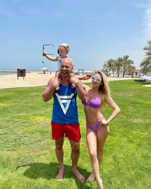 Семья Черкасовых на отдыхе в Эмиратах