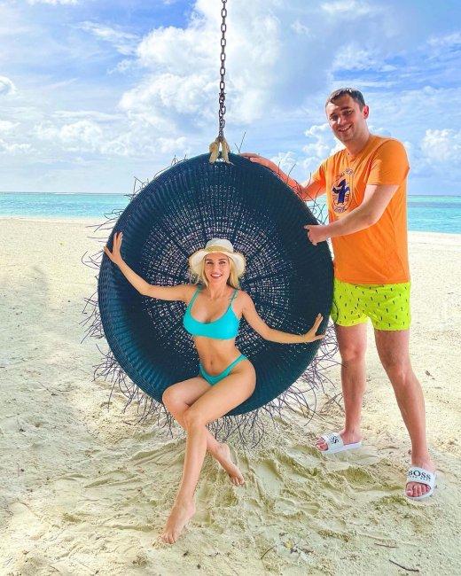 Фотоподборка Розы и Андрея Шабариных с отдыха на Мальдивах